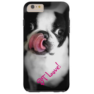 ¡Caso del iPhone del amor de Boston Terrier! Funda De iPhone 6 Plus Tough