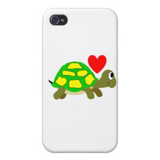 Caso del iPhone del amor de la tortuga iPhone 4 Carcasas