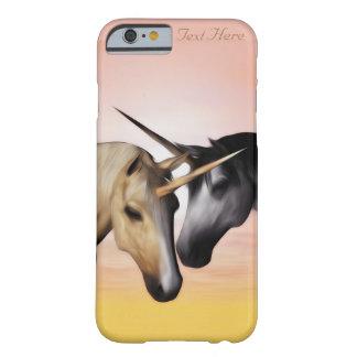 Caso del iPhone del amor del unicornio Funda Para iPhone 6 Barely There