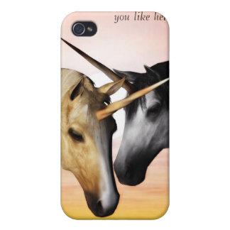 caso del iphone del amor del unicornio iPhone 4/4S carcasa