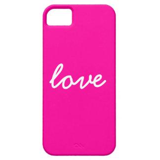 Caso del iphone del amor iPhone 5 carcasa