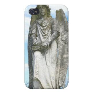 Caso del iphone del ángel del cielo azul iPhone 4 carcasas