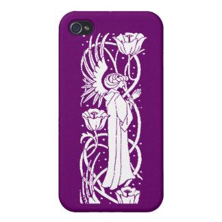 Caso del iPhone del ángel y de la amapola de Beard iPhone 4/4S Carcasa