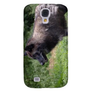 Caso del iPhone del animal salvaje del lobo gris d Funda Para Galaxy S4