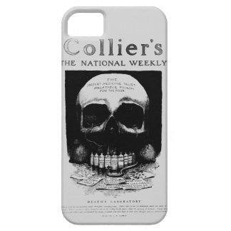 Caso del iPhone del anuncio del vintage del cráneo iPhone 5 Case-Mate Protectores