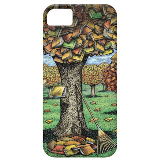 Caso del iPhone del árbol del libro Funda Para iPhone SE/5/5s