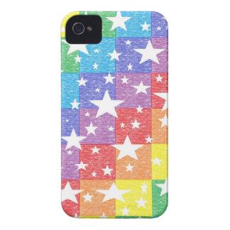 Caso del iPhone del arco iris y de las estrellas iPhone 4 Case-Mate Protector