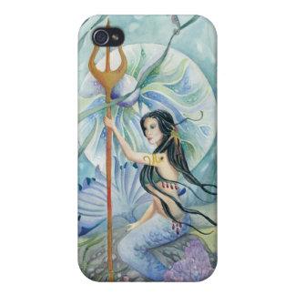 Caso del iPhone del arte de la sirena de la hija d iPhone 4 Fundas