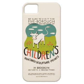 Caso del iPhone del arte de los niños del vintage iPhone 5 Carcasas