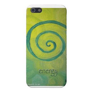 """caso del iphone del arte del corazón de la """"energí iPhone 5 cárcasa"""