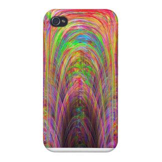 Caso del iPhone del arte del fractal de la catedra iPhone 4 Fundas
