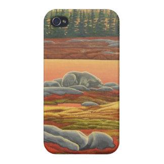 Caso del iPhone del arte del oso del caso del iPho iPhone 4/4S Carcasas