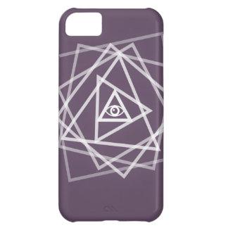 Caso del iPhone del arte del triángulo del ojo de  Funda Para iPhone 5C