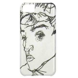Caso del iPhone del autorretrato de Egon Schiele Funda Para iPhone 5C