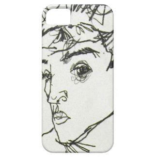 Caso del iPhone del autorretrato de Egon Schiele Funda Para iPhone SE/5/5s