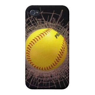 caso del iphone del béisbol del fragmento 3D iPhone 4/4S Carcasa