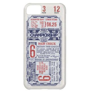 Caso del iPhone del boleto del béisbol Funda Para iPhone 5C