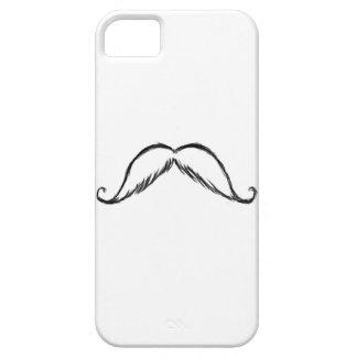 Caso del iphone del bosquejo del bigote iPhone 5 carcasa