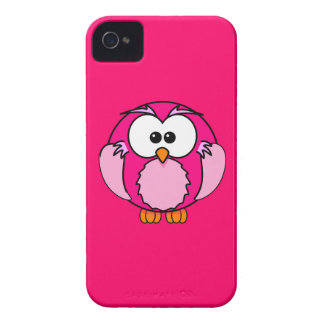 Caso del iPhone del búho de Fuschia de las rosas Funda Para iPhone 4 De Case-Mate