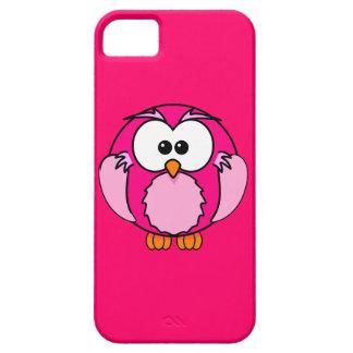 Caso del iPhone del búho de Fuschia de las rosas Funda Para iPhone SE/5/5s