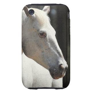 Caso del iPhone del caballo blanco iPhone 3 Tough Carcasa