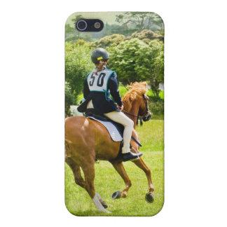 Caso del iPhone del caballo de Eventing iPhone 5 Cárcasa