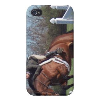 Caso del iPhone del caballo del puente del cazador iPhone 4/4S Fundas
