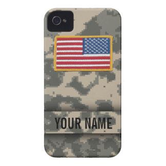 Caso del iPhone del camuflaje del estilo del ejérc iPhone 4 Case-Mate Carcasa