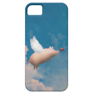 caso del iphone del cerdo del vuelo iPhone 5 Case-Mate carcasa