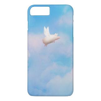 caso del iphone del cerdo del vuelo funda iPhone 7 plus