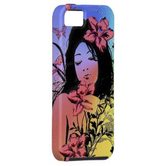 Caso del iPhone del chica 3 de la mariposa iPhone 5 Carcasas