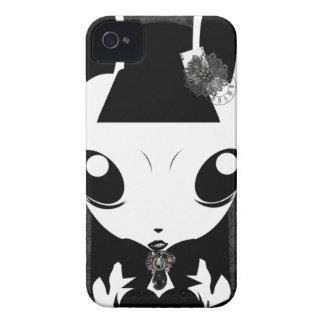 caso del iphone del chica de conejito del gótico iPhone 4 Case-Mate carcasa