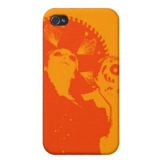 caso del iphone del chica del cráneo n iPhone 4 protectores