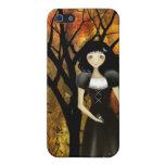 Caso del iPhone del chica del gótico del otoño iPhone 5 Cárcasa