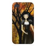 Caso del iPhone del chica del gótico del otoño iPhone 4 Funda