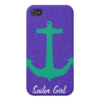 Caso del iPhone del chica del marinero iPhone 4 Funda