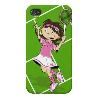 Caso del iphone del chica del tenis iPhone 4 carcasa