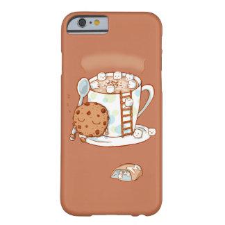 Caso del iPhone del chocolate caliente Funda De iPhone 6 Barely There