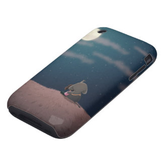 caso del iphone del claro de luna tough iPhone 3 fundas