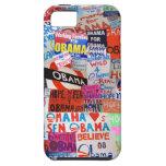 Caso del iPhone del collage de la muestra de Obama iPhone 5 Case-Mate Protectores