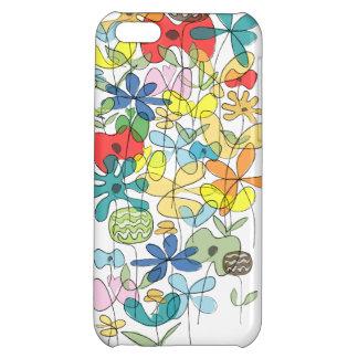 Caso del iPhone del collage de las flores