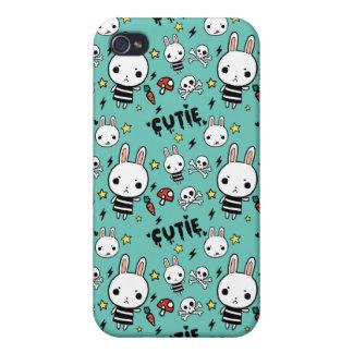 Caso del iPhone del conejito de Cutie del Aquamari iPhone 4 Protectores