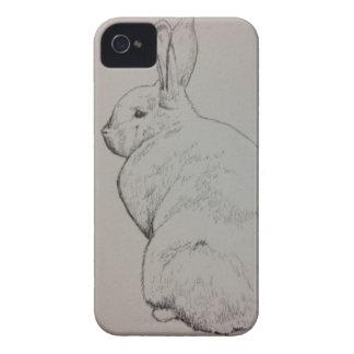 Caso del iPhone del conejo iPhone 4 Case-Mate Funda