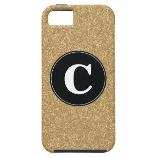 Caso del iPhone del confeti del brillo del oro iPhone 5 Cárcasa