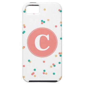 Caso del iPhone del confeti iPhone 5 Cárcasa