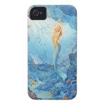 """Caso del iPhone del """"coral"""", de la sirena, de los  Case-Mate iPhone 4 Fundas"""
