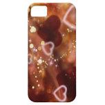 caso del iphone del corazón de oro iPhone 5 cárcasa