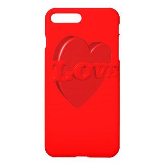 Caso del iPhone del corazón del amor Funda Para iPhone 7 Plus