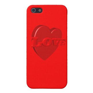 Caso del iPhone del corazón del amor iPhone 5 Fundas