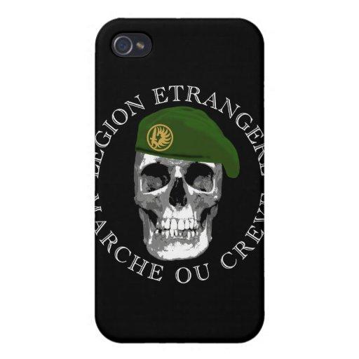 Caso del iPhone del cráneo de Etrangere de la legi iPhone 4 Funda